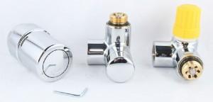 poza Set robineti economisitori de spatiu tur termostatat/retur 1/2 crom Danfoss
