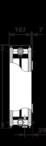 Poza Radiator-convector ULOW-E2 22/500/2000 - RAL9016